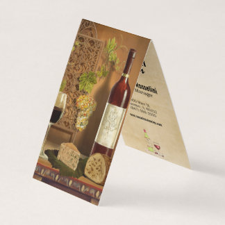 wine and cheese winery business card