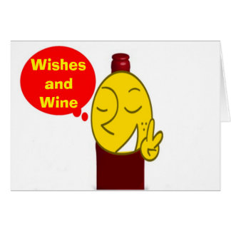 WINE AND CHRISTMAS WISHES-ADULT SECULAR CARD