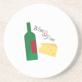 Wine And Dine Drink Coasters