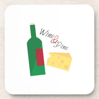 Wine And Dine Beverage Coasters