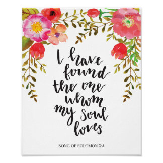 Wine and Flowers Wedding Sign of Song of Solomon