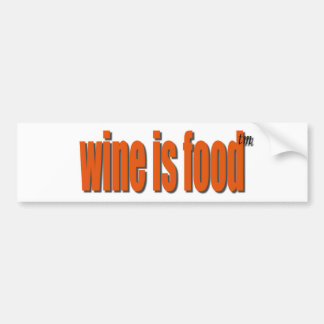 WINE AND FOOD BUMPER STICKERS
