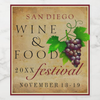 Wine and Food Festival Wine Label