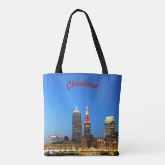 Wine and Gold Cleveland Tote Bag
