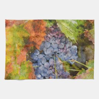 Wine and Grape Kitchen Decor Tea Towel