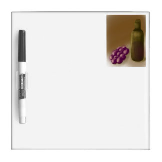 Wine and Grapes Dry Erase Board