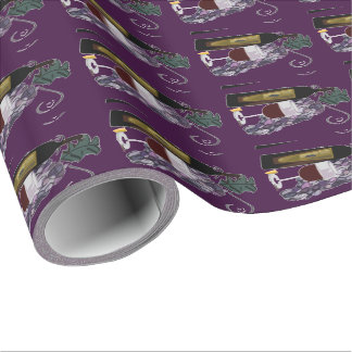 Wine and Grapes (purple) Wrapping Paper
