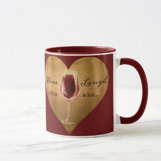 Wine and Laugh Coffee Mug