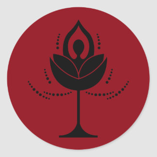 Wine and Yoga Round Sticker