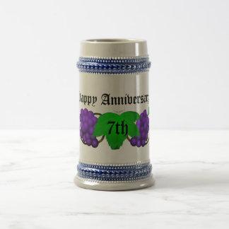 Wine Anniversary Stein 7th Mugs
