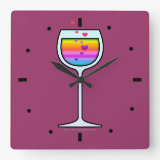 WINE ART WALL CLOCK