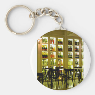 Wine Bar Basic Round Button Key Ring
