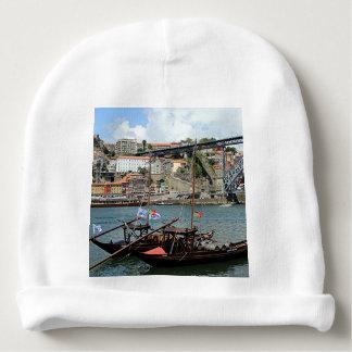 Wine barrel boats, Porto, Portugal Baby Beanie
