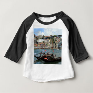 Wine barrel boats, Porto, Portugal Baby T-Shirt
