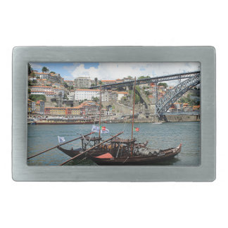 Wine barrel boats, Porto, Portugal Belt Buckles