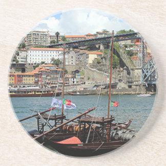 Wine barrel boats, Porto, Portugal Coaster