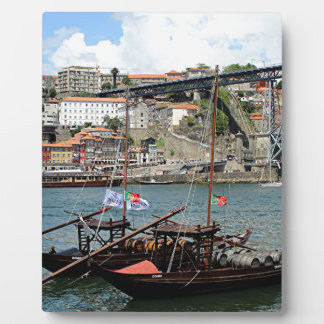 Wine barrel boats, Porto, Portugal Display Plaque