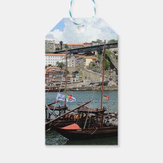 Wine barrel boats, Porto, Portugal Gift Tags