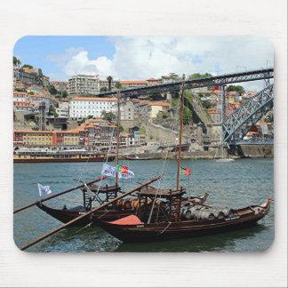 Wine barrel boats, Porto, Portugal Mouse Pad