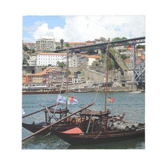 Wine barrel boats, Porto, Portugal Notepad