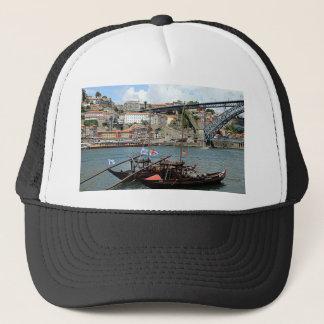 Wine barrel boats, Porto, Portugal Trucker Hat