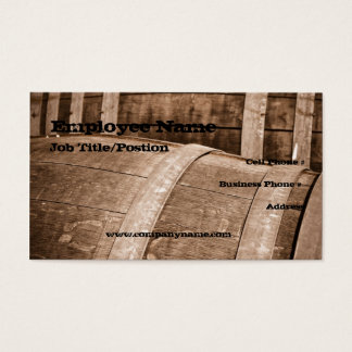 Wine Barrel Business Card Template