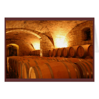 Wine Barrel Notecard