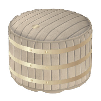 Wine barrel pouf