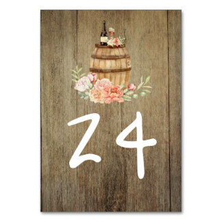 Wine Barrel Rustic Country Floral Card