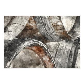 Wine Barrels Photographic Print