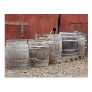 Wine Barrels Postcard