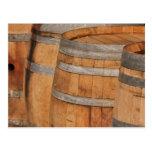 Wine Barrels used to Store Vintage Wine Postcards