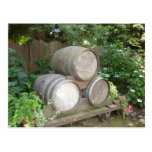 Wine Barrels - Wine Country Postcard