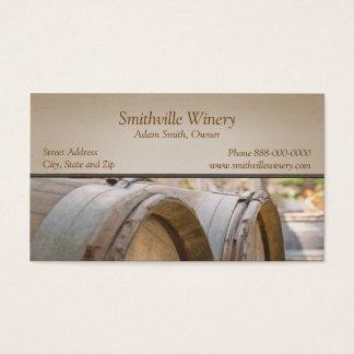 Wine Barrels Winery Business Card