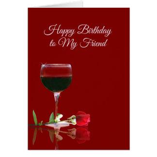 Wine Birthday Card for Friend