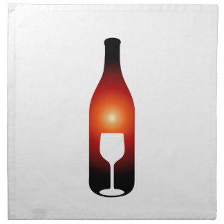 Wine bottle and glass napkin