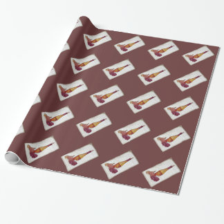 wine bottle and grapes wrapping paper