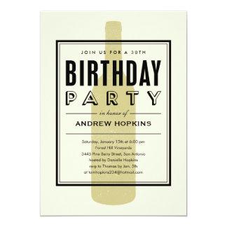 Wine Bottle Birthday Invitations