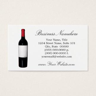 Wine Bottle (Blank Label) Business Cards