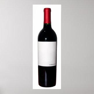 Wine Bottle (Blank Label) Poster