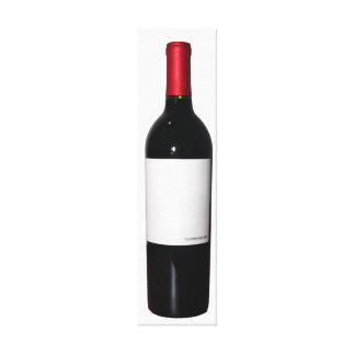 Wine Bottle (Blank Label) Wrapped Canvas