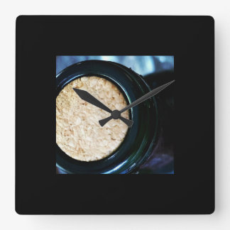 Wine Bottle Cork Square Clock
