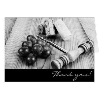 Wine bottle corks thank you card