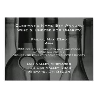 Wine Bottle Corporate Event Invitations