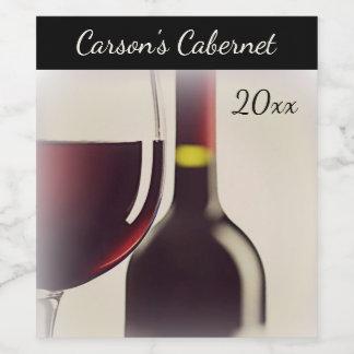 Wine Bottle / Glass Wine Label