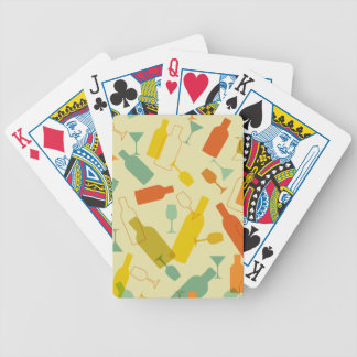 Wine Bottles and Glasses Design Poker Deck