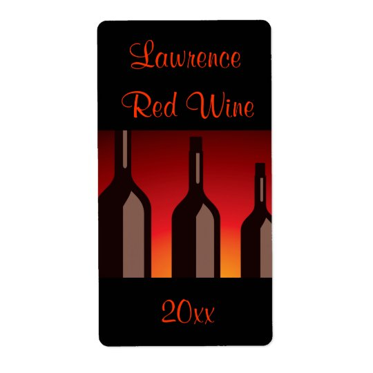 Wine Bottles Homemade Wine Label Shipping Label