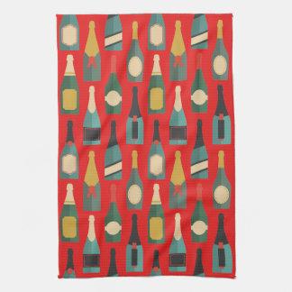 Wine Bottles Tea Towel