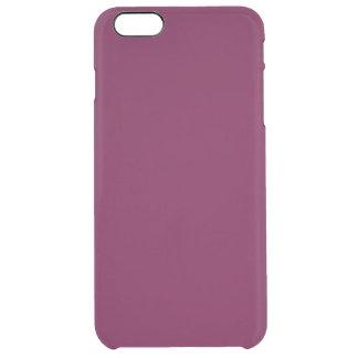 Wine Burgundy Solid Color Simple Plain Clear iPhone 6 Plus Case