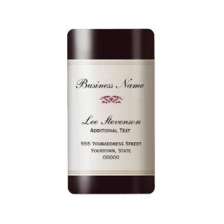 Wine  Business Address Label